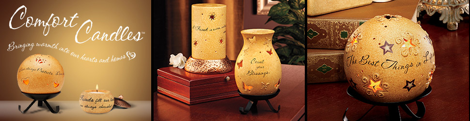 Comfort Candles arranged items preview banner