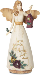 "Aunt by Simple Spirits - 6"" Angel Holding Birdhouse"