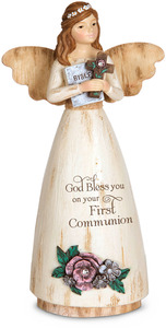 "Communion by Simple Spirits - 6"" Angel Holding Cross"