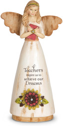 "Teacher by Simple Spirits - 6"" Angel Holding Book"