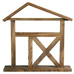"12"" Wooden Creche by Gentle Souls - 12""x12"" Creche"