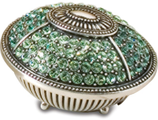 Peridot Green Oval Box by Ava Collection -