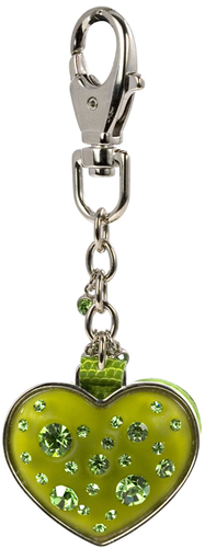Peridot by Ava Collection - Heart Keychain w/Mirror