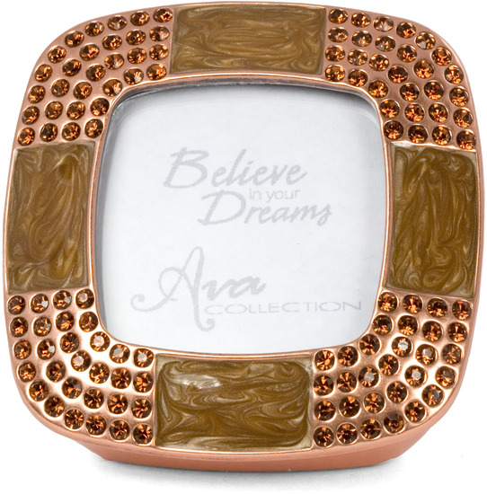 "Copper Topaz Frame & Box by Ava Collection - Copper Topaz Frame & Box - Copper with Smoked Topaz. Holds 1.5"" x 1.5"" Photo"