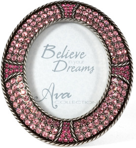 Pink Rose Oval Frame by Ava Collection -
