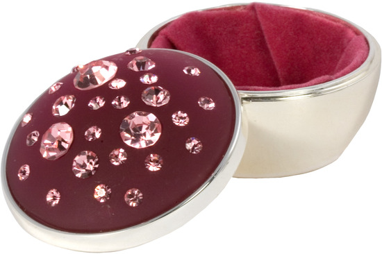 "Rose by Ava Collection - Rose - Pink Round Box 2""x2"""