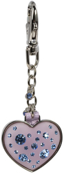 Pink Rose Heart Keychain by Ava Collection -