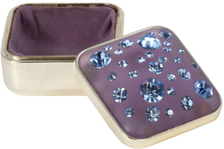 Amethyst by Ava Collection - Light Sapphire Square Keepsake Box