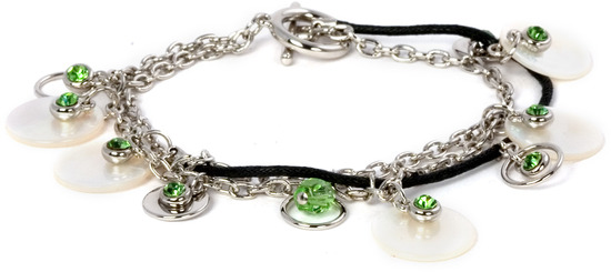 Peridot Bracelet by Ava Collection - w/Pearl Accents