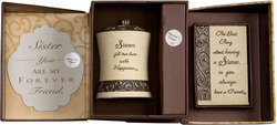Sister Gift Set by Comfort To Go - Candle w/ Musical Plaque