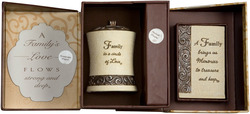 Family Gift Set by Comfort To Go - Candle w/ Musical Plaque