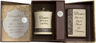 Daughter Gift Set by Comfort To Go - Candle w/ Musical Plaque