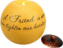 "Friend by Comfort Candles - 4.5"" Round Candle Holder"