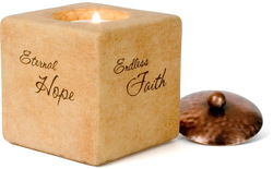 "Hope, Faith, Joy, Peace by Comfort Candles - 3"" Square"