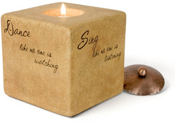 "Living by Comfort Candles - 4"" Square"