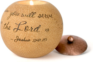 "Serve the Lord by Comfort Candles - 4"" Round"