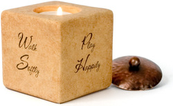"Walk,Play,Dream,Love by Comfort Candles - 3"" Square"