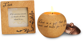 "Love Gift Set by Comfort Candles - 3.5 Frame/3"" Candle"