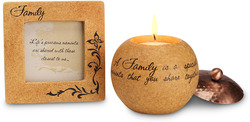 "Family Gift Set by Comfort Candles - 3.5 Frame/3"" Candle"