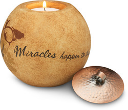"Miracles by Comfort Candles - 4""Round Candle Holder"