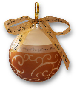 "Love by Comfort Candles - 3.5"" Glass Ornament"