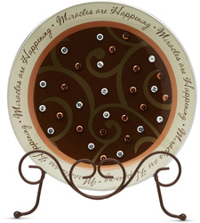 "Miracles by Comfort Candles - 8"" Glass Round Plate"