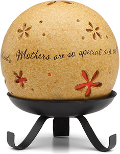 "Mothers are so special by Comfort Candles - 4"" Pierced Round Candle Holder"