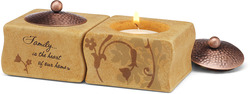 "Family by Comfort Candles - 1.5"" Tea Light Holders (S/2)"