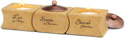 "Cherish, Dream, Live by Comfort Candles - 1.5"" Tea Light Holders (S/3)"