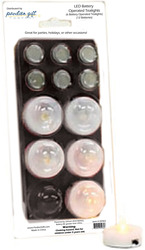 Battery T-Light Blister Pack by Comfort Candles - 6 T-Lights/6 Extra Batteries