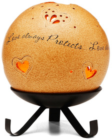 "Love by Comfort Candles - 5"" Pierced Round Candle Holder"