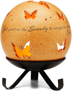 "Serenity by Comfort Candles - 5"" Pierced Round Candle Holder"