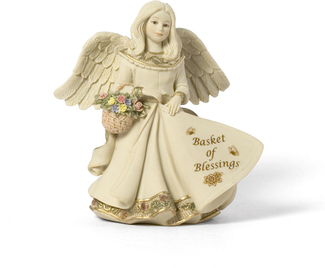 Basket of Blessings Angel by Sarah
