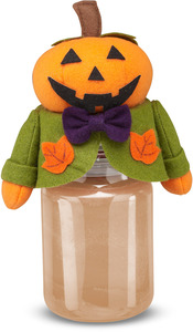 "Jack by Candle Cozies - 3.5"" x 7.5"" Pumpkin Cozie"