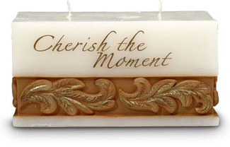 "Cherish the Moment by Comfort Candles - 3"" x 6"" x 3"" Candle"