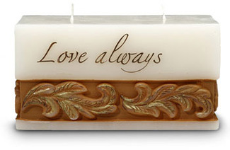 "Love Always by Comfort Candles - 3"" x 6"" x 3""  Candle"