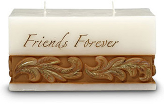 "Friends Forever by Comfort Candles - 3"" x 6"" x 3""  Candle"