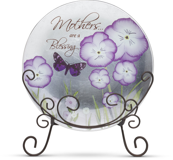 "Mother by Bonita - Mother - 8"" Decorative Butterfly  Plate"