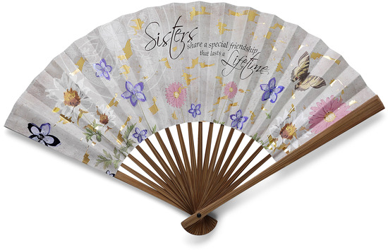"Sister by Bonita - Sister - 16"" x 9"" Decorative Fan"