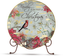 "Christmas by Bonita - 8"" Plate Packed with Stand"