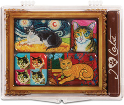 "Short Hair Cats by Paw Palettes - 3.125""x4.125"" Magnet Set"