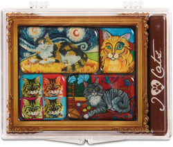 "Long Hair Cats by Paw Palettes - 3.125""x4.125"" Magnet Set"