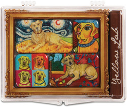 "Yellow Lab by Paw Palettes - 3.125""x4.125"" Magnet Set"