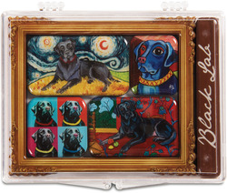 "Black Lab by Paw Palettes - 3.125""x4.125"" Magnet Set"