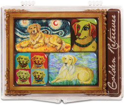 "Golden Retriever by Paw Palettes - 3.125""x4.125"" Magnet Set"