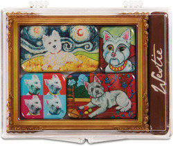 "West Highland Terrier by Paw Palettes - 3.125""x4.125"" Magnet Set"