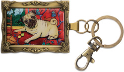 "Pug - Muttisse by Paw Palettes - 2""x 2.75"" Key Chain"