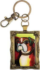 "Boxer - Pawcasso by Paw Palettes - 2""x 2.75"" Key Chain"