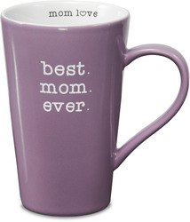 "Best Mom by Mom Love - 5.5"" -  18 oz Latte Mug"