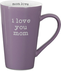 "I Love Mom by Mom Love - 5.5"" -  18 oz Latte Mug"